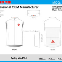 Custom Cycling Wind Vest Cycling Clothing