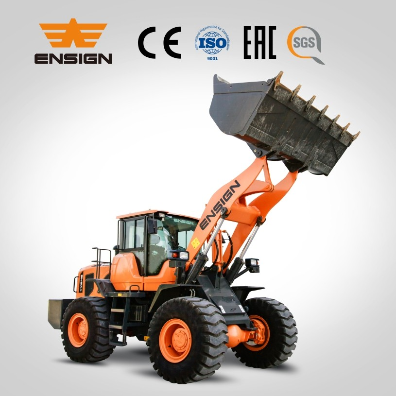 Earth moving machinery ENSIGN brand wheel loader YX655 5 tons front loader for sale