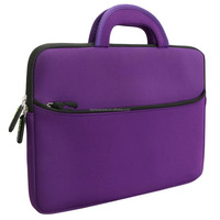 New arrival purple color Tablet Neoprene Zipper Carrying Case Bag with Accessory Pocket