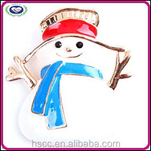 China Manufacturer 2014 Burst Sells Snowman Brooch Promotion Christmas Gift