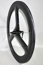 Cool~ super lightweigh carbon tri spoke wheel for road bike,carbon three spoke bicycle wheel