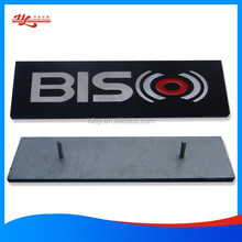 Aluminum die casting nameplate and embossed plate
