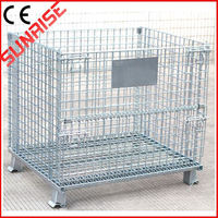 foldable galvanized industrial metal storage bins