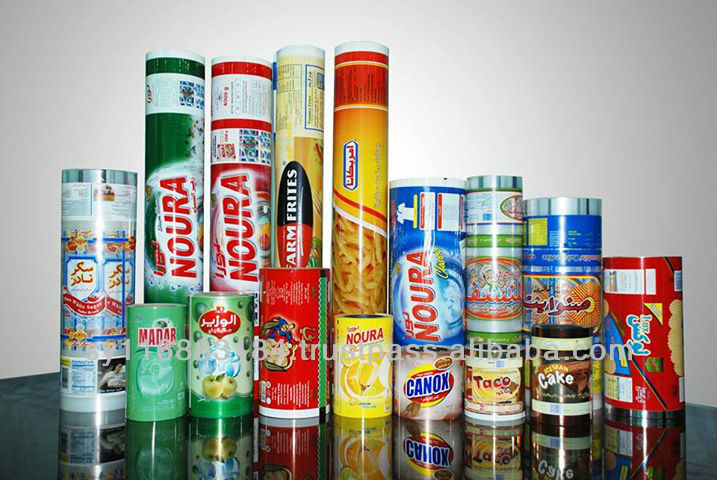 plastic printed film roll for packaging food, cleaners, juice ...Flexo & Roto printing