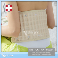Medical Waist Physical Spinal inflatable relief as seen on tv back support massage therapy leather back support belt