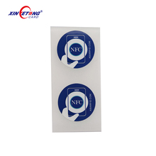 NFC unique id non-clonable disposable rfid tag for phones