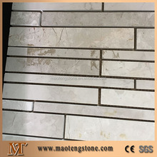 Natural White Marble Mosaic Tile Random Strip