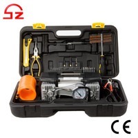 High quality Double cylinder 12v mini air compressor pump with repair kit