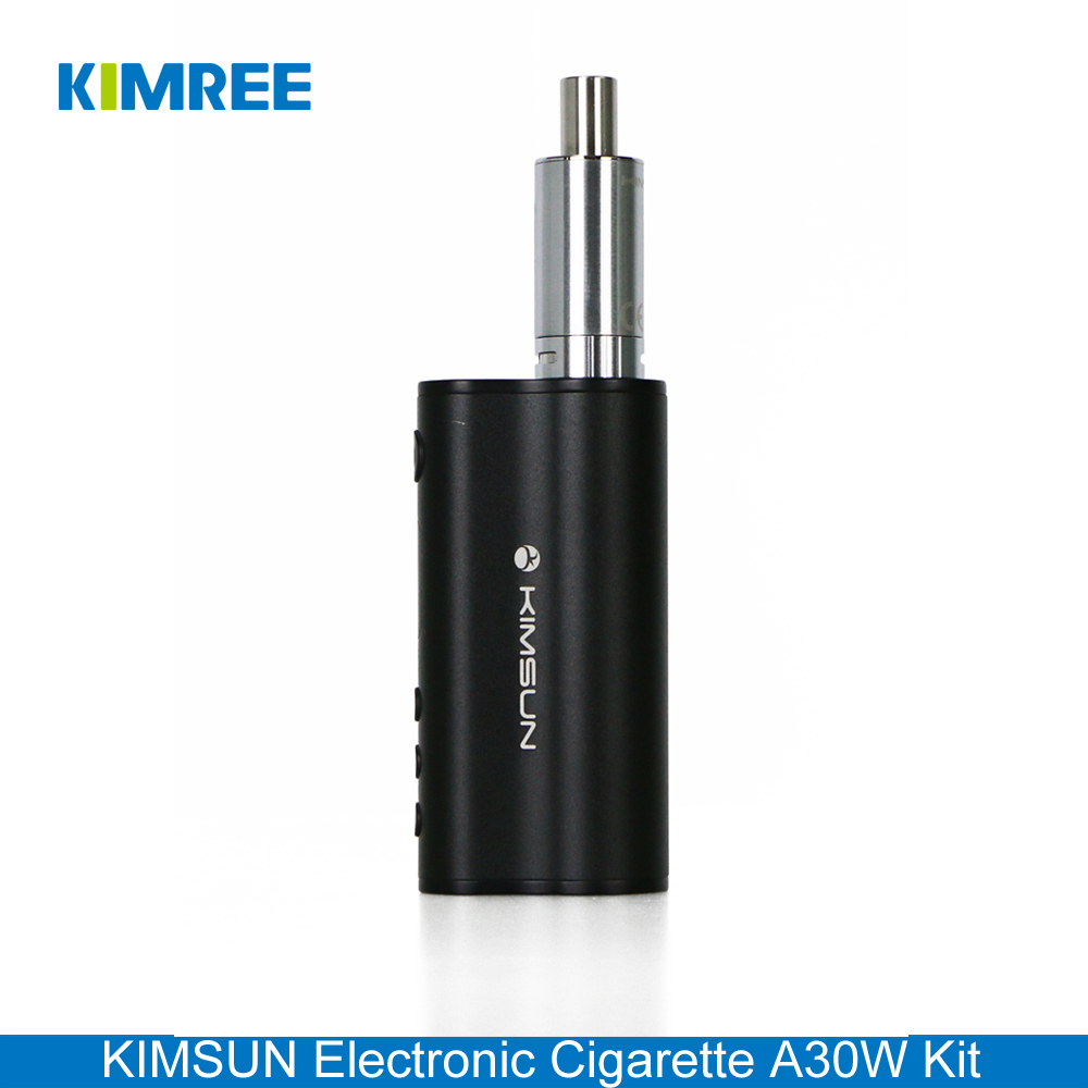 KIMSUN A30W Kit Black Sub Ohm Atomizer Tank 30W Rechargeable Vape Box Mod E Cigarette Kit with Power Bank and Super Vapor