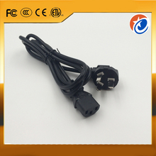 High quality black electrical 3 prong pin port AC power extension cord cable AU plug for desktop computer
