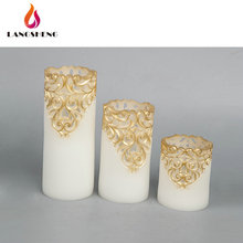 Custom promotional new fashion candle wax decoration