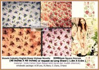 English Roses Vintage :Signature HOMEmade Square Scarves & Shawls