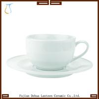 White Fine Durable Porcelain Ceramic Bulk Tea Cup and saucer Sets