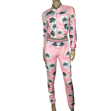 floral printed tracksuit,womens side striped <strong>sports</strong> wear