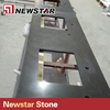 Black Vein Quartz Flat Edge Black Quartz Countertop