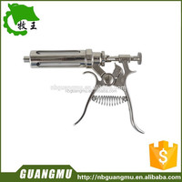 Hot sale farm instrument gun vet/animal syringe/injection 30ml