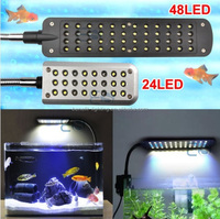 2015 top sale Overhead fish tank 24/48 LED aquarium clip Light 2 Mode