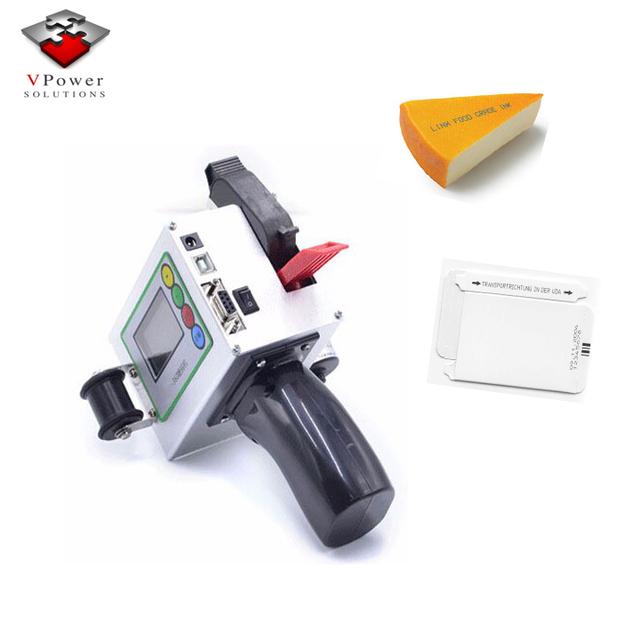 Manufacture factory Handheld Inkjet Printer Bar Code Software Equipment Marking Cosmetic Labeling Food Labeling Printing Machine