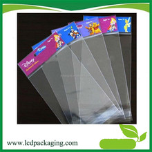 Wholesale Opp PE self adhesive plastic packaging bag with printed header card