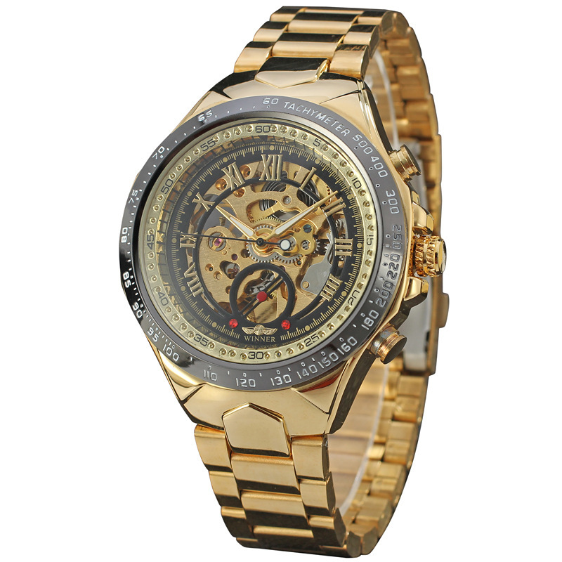 New design fashion winner brands automatic mechanical watch mens high quality