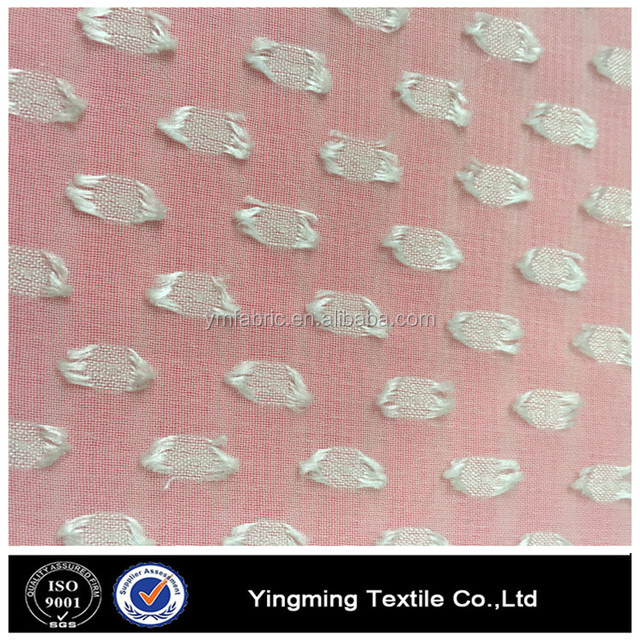 New design special polyester clip dot chiffon fabric