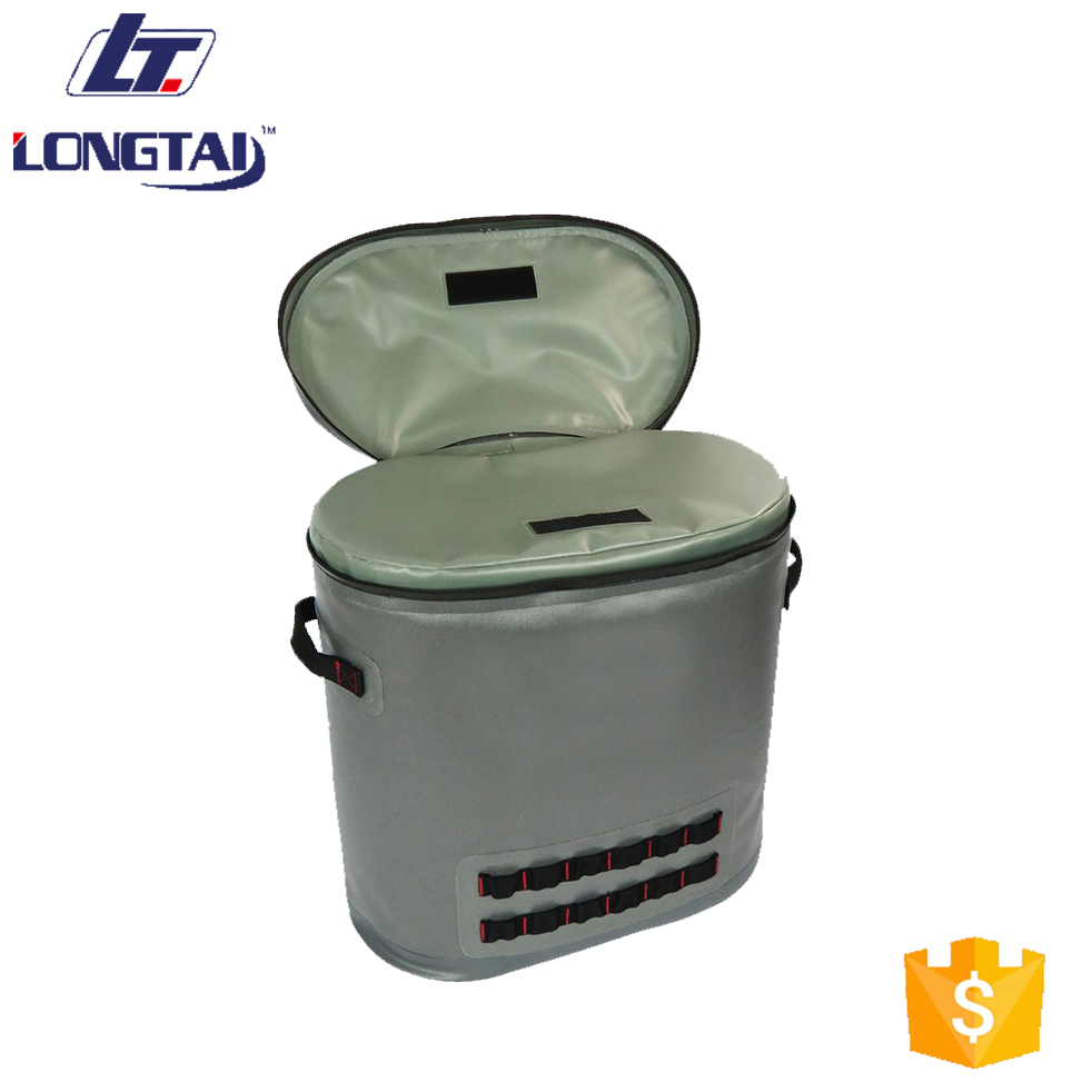 Welded Seam Isulated Backpack 24Can Outdoor TPU Cooler Bags Waterproof Airtight Zip Bags