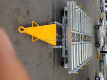 Container dolly trailer for aviation equipment