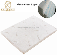 CFR1633 flame retardant King Size roll up Gel Memory Foam Mattress Topper