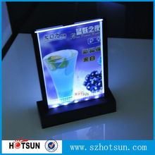 A4 A5 BLACK menu led acrylic table tent