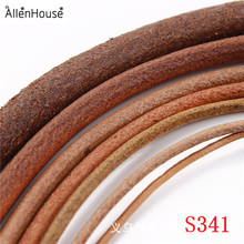 100% real Natural Leather Cords 1mm/1.5mm/2mm/2.5mm/3mm/4mm/5mm genuine leather straps