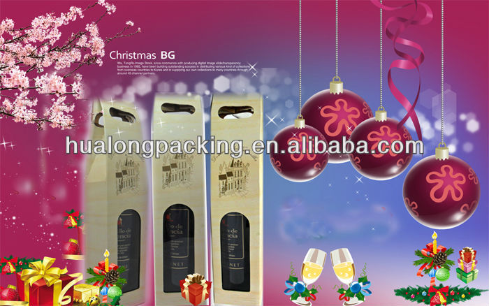 High Quality Kraft Paper Wine Box With Handle