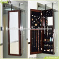 Furniture hobby jewelry armoire brown storage cabinet
