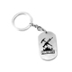 Wholesale new style silver necklace metal tag key chain with logo