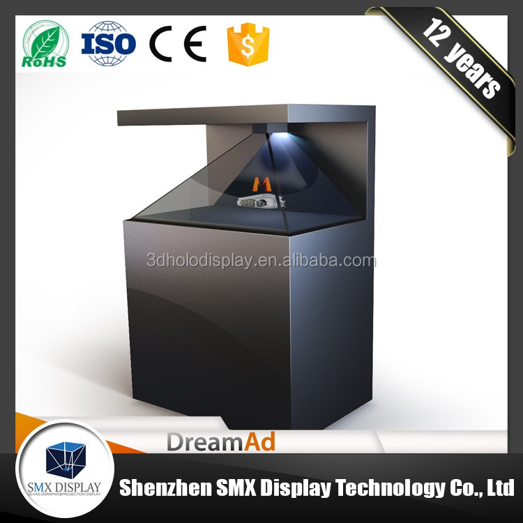 OEM manufacturer custom full HD resolution large sized 3D pyramid hologram display