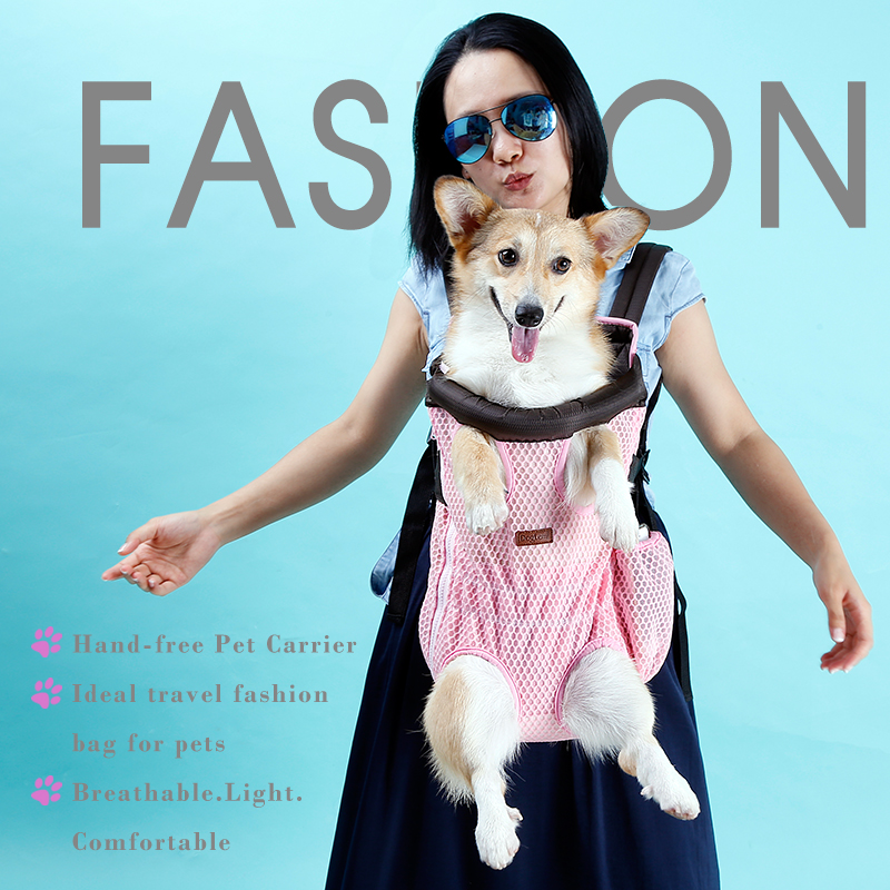 High Quality Double-shoulder Dog Chest Backpack Fashion Cat Front Outdoor Bag Puppy Tote Holder Bag