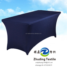 Black 8 ft Strong Elastic Spandex Table Cover,Table Cloth for banquet table