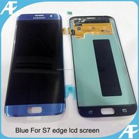 Blue color LCD touch screen replacement for Samsung Galaxy S7 edge OEM quality