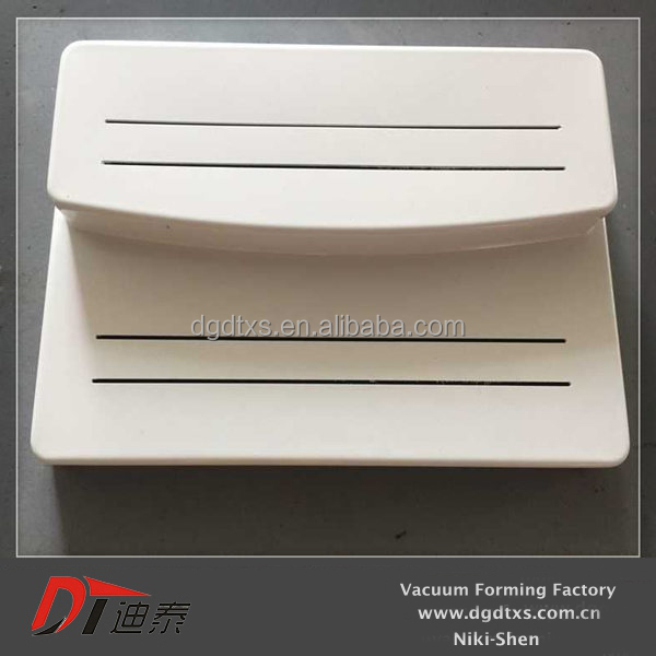 OEM design of white double layer food serving tray in vacuum forming factory,