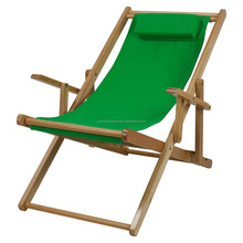 Portable Patio Wooden Beach Folding Adjustable Chair Commercial Indoor and Outdoor Chaise Lounger