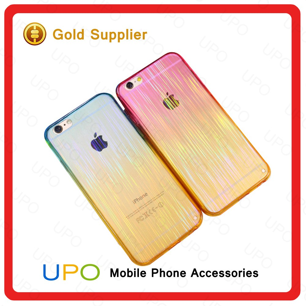 [UPO] Gradient color Soft case For iPhone 6,TPU PC For iPhone 6 phone case