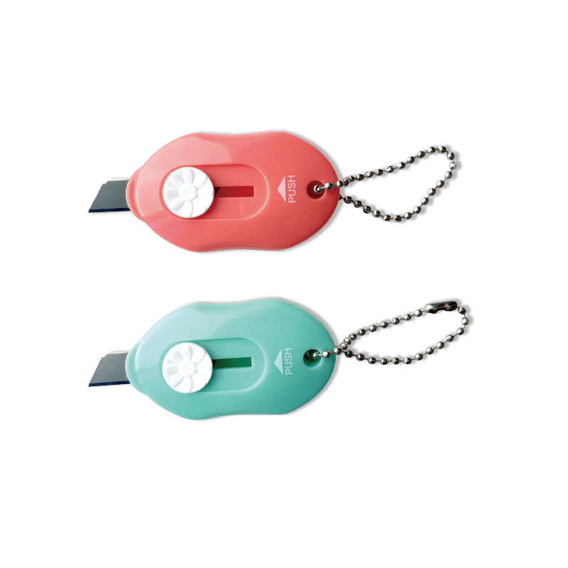Looking Branded Hot Sale Mini Box Cutter Mini Paper Cutter With Key Ring