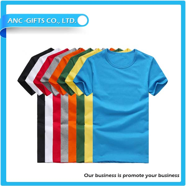 Wholesale promotional plain 100 cotton t shirt wholesale for T shirt printing in bulk