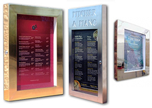 Brass or Stainless Steel Menu Display Case