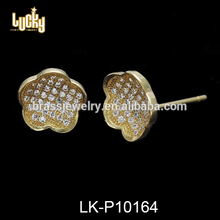 Wholesale mexican jewelry design wedding flowers design 16k gold bulk fashion earrings jewelry findings manufacturers china
