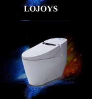 Sanitary ware one piece smart toilet with stainless steel nozzle and wetting toilet