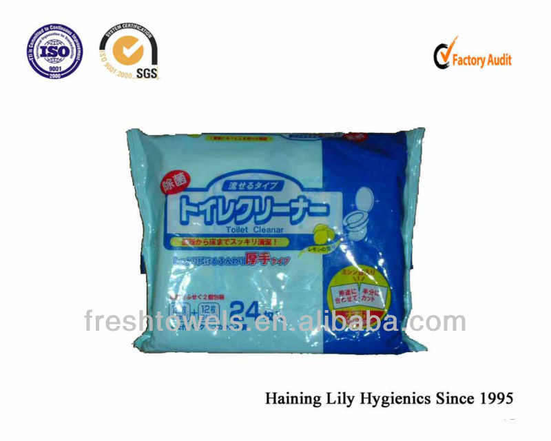 OEM Disposable flushable bath/toilet wet wipes