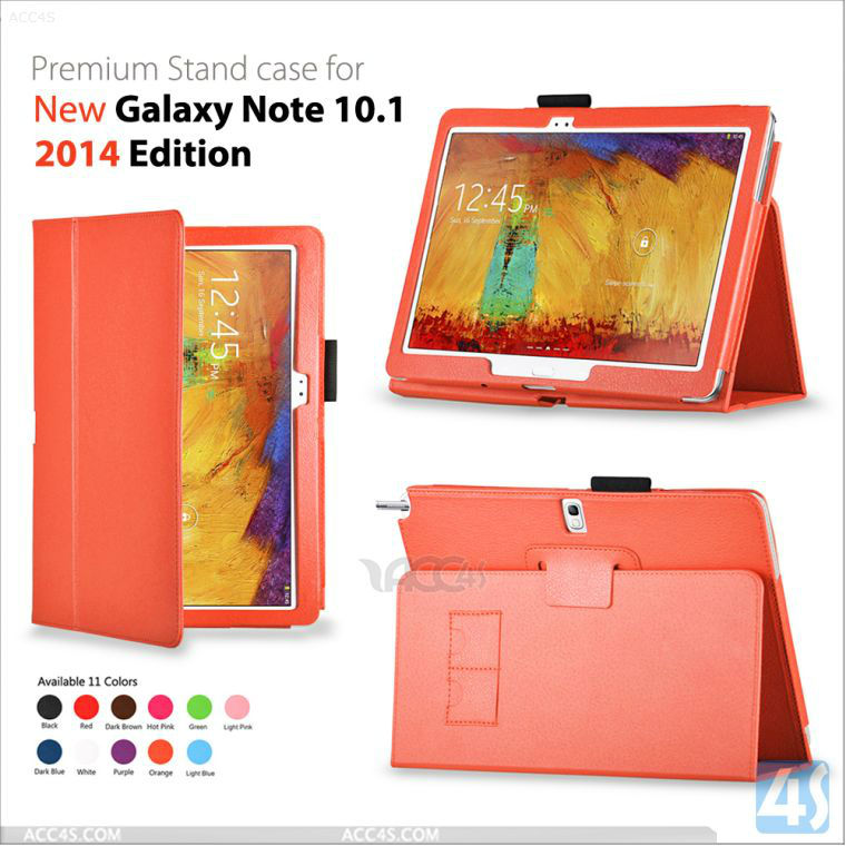 Flip Skin Stand Leather Cover Original for Samsung Galaxy Note 10.1 2014 Edition P-SAM2014EditionCASE001