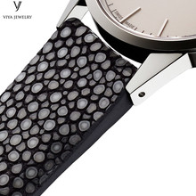 galuchat leather watchband for luxury watches making long watch straps