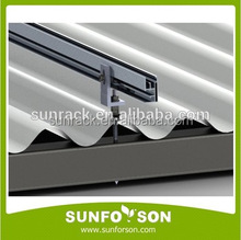 Asbestos corrugated roof solar sloped roof racking rooftop solar mount