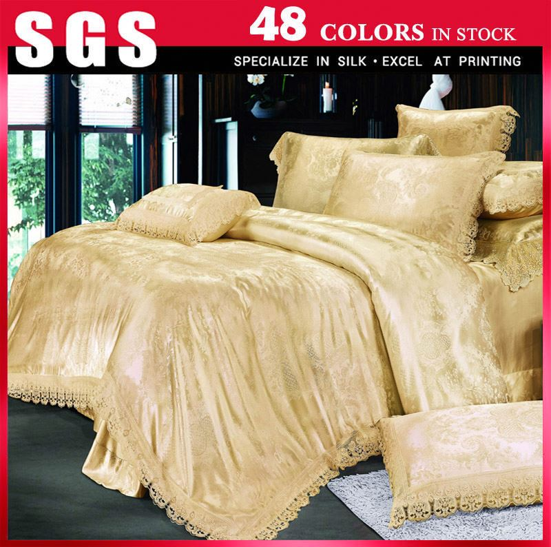 Factory selling Smooth And Bright chinese luxury silk bedding set